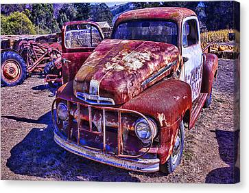 Rusty Ford Canvas Print by Garry Gay
