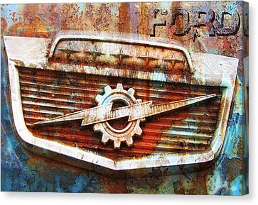 Rusty Ford Canvas Print by Greg Sharpe
