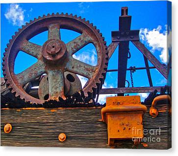 Rusty Gear Canvas Print by Gregory Dyer