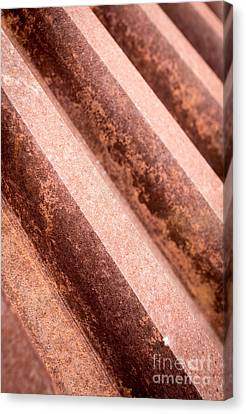 Rusty Gears Abstract Canvas Print by Edward Fielding