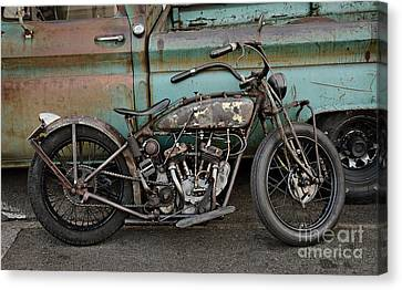 Rusty Indian Scout Bobber Canvas Print by Frank Kletschkus