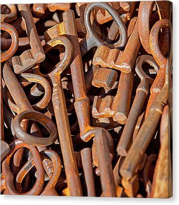 Rusty Keys Canvas Print by Art Block Collections