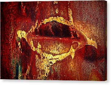Rusty Kiss Canvas Print by Leanna Lomanski