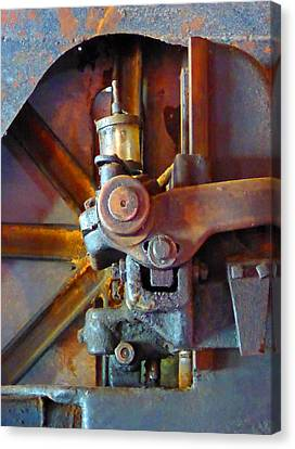 Rusty Machinery 2 Canvas Print by Laurie Tsemak
