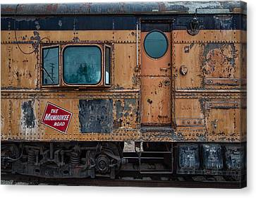 Train Depot Canvas Print - Rusty Milwaukee Road by Mike Burgquist