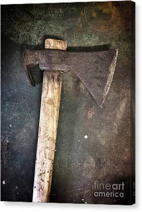 Ironwork Canvas Print - Rusty Old Axe by Carlos Caetano