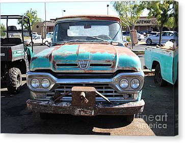 Old American Truck Canvas Print - Rusty Old Ford Jalopy 5d24643 by Wingsdomain Art and Photography