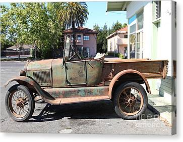 Old American Truck Canvas Print - Rusty Old Ford Jalopy 5d24649 by Wingsdomain Art and Photography