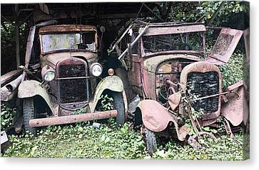 Rusty Old Friends Canvas Print by Michael Spano