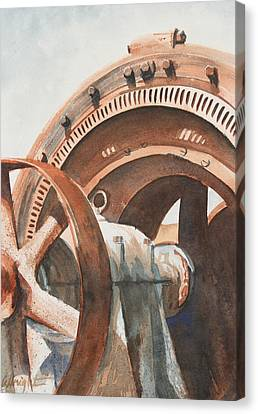Rusty Relic Canvas Print by Pam Albright