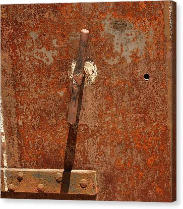 Rusty Safe Front Canvas Print by Art Block Collections