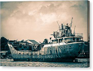 Rusty Ship Canvas Print