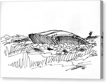 Rusty Shipwreck 1998 Canvas Print by Richard Wambach
