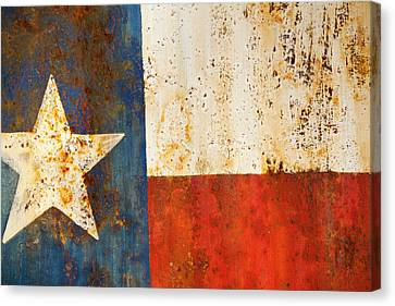 Metal Canvas Print - Rusty Texas Flag Rust And Metal Series by Mark Weaver