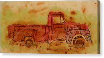 Rusty Truck Canvas Print by Jenny Williams