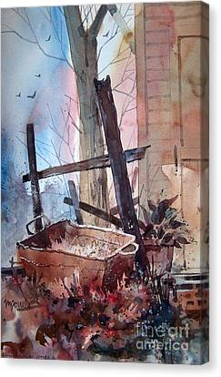 Rusty Tub Canvas Print by Micheal Jones