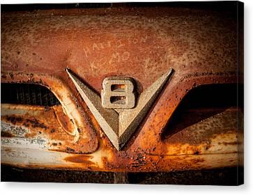 Rusty V8 Canvas Print by Paul Bartoszek