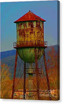 Rusty Water Tower Canvas Print by Beth Ferris Sale