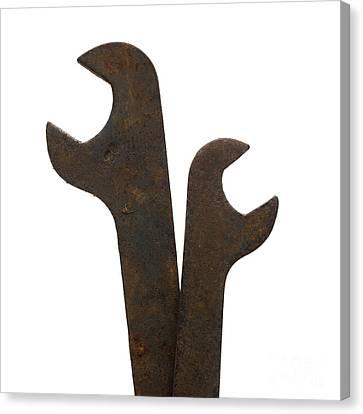 Rusty Wrench Spanner Tool Canvas Print by Bernard Jaubert