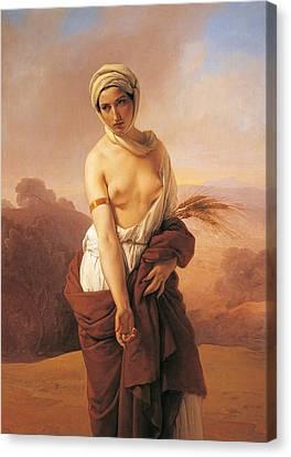 Exoticism Canvas Print - Ruth by Francesco Hayez