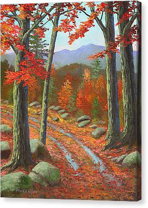 Autumn Rutted Road Canvas Print by Frank Wilson