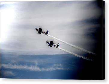 Canvas Print featuring the photograph Rv8tors Flying High Sunderland Air Show 2014 by Scott Lyons