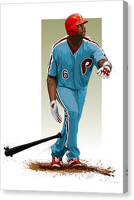 Citizens Bank Park Canvas Print - Ryan Howard by Scott Weigner