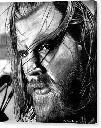 Opie Canvas Print - Ryan Hurst As Opie by Rick Fortson