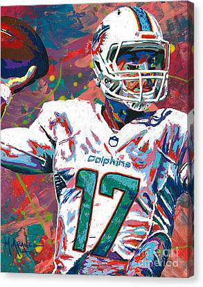 Ryan Tannehill Canvas Print by Maria Arango