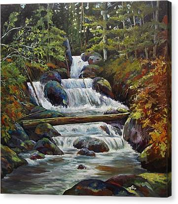 Ryans Falls Canvas Print by Suzanne Tynes