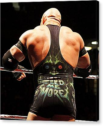 Ryback Feed Me More Canvas Print by Paul  Wilford