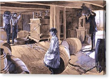 Rye Cider Mill 1879 Canvas Print by Padre Art