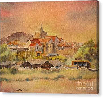 Canvas Print featuring the painting Rye East Sussex Uk by Beatrice Cloake