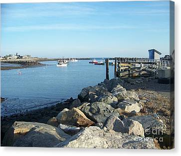 Canvas Print featuring the photograph Rye Harbor  by Eunice Miller