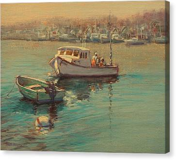 Rye Harbor Lobstermen Canvas Print
