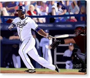 Diamondbacks Canvas Print - Rymer Liriano by Jeremy Nash