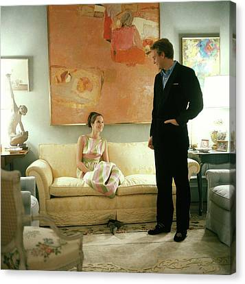 S. Carter Burden Jr. With His Wife Amanda Canvas Print by Horst P. Horst