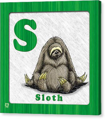 S For Sloth Canvas Print by Jason Meents