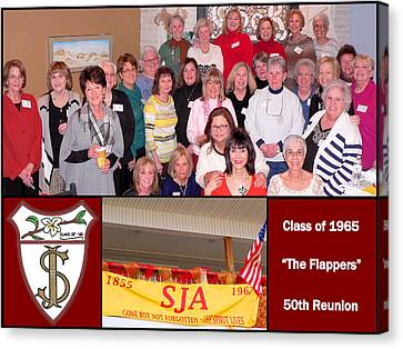 S J A Reunion Collage Flappers Canvas Print