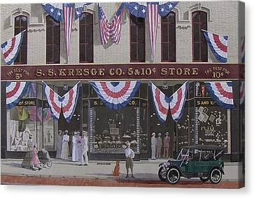 S. S. Kresge Five And Ten Cent Store Canvas Print