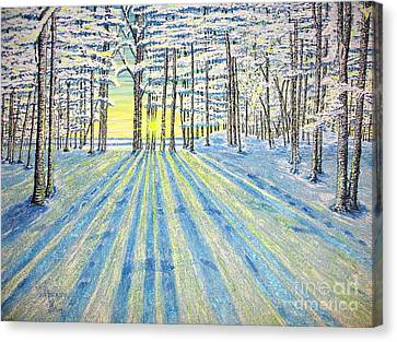 Canvas Print featuring the painting S. Winter. by Viktor Lazarev