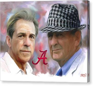 Roll Canvas Print - Saban And Bear by Mark Spears