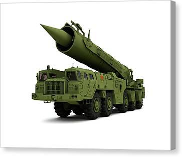 Saber Nuclear Missile Canvas Print by Mikkel Juul Jensen