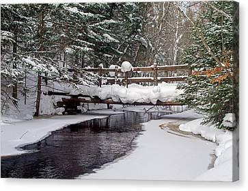 Sable Creek Footbridge  Canvas Print