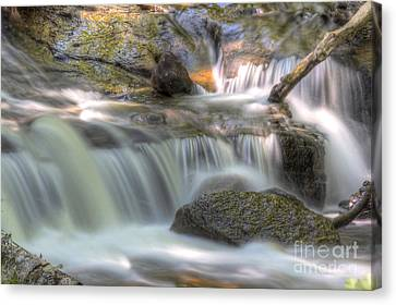 Sable Falls In Pictured Rocks Canvas Print by Twenty Two North Photography
