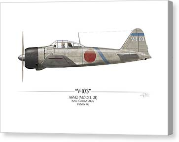 Saburo Sakai A6m Zero  Canvas Print by Craig Tinder