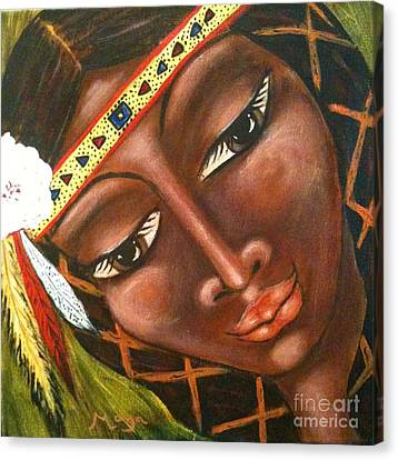 Sacajawea Canvas Print by Maya Telford