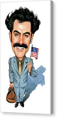 Sacha Baron Cohen As Borat Sagdiyev  Canvas Print