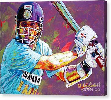 Sachin Tendulkar Canvas Print