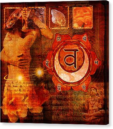 Sacral Chakra Canvas Print by Mark Preston